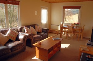 Lodge Living Room Self Catering Tyndrum